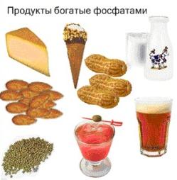 Продукты богатые фосфатами