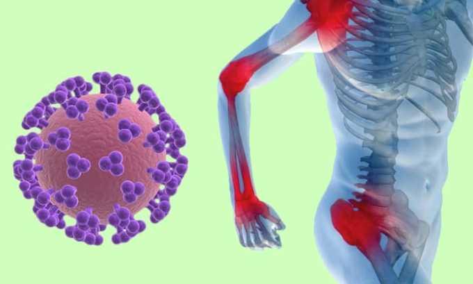 Препарат показан при инфекции суставов, костей
