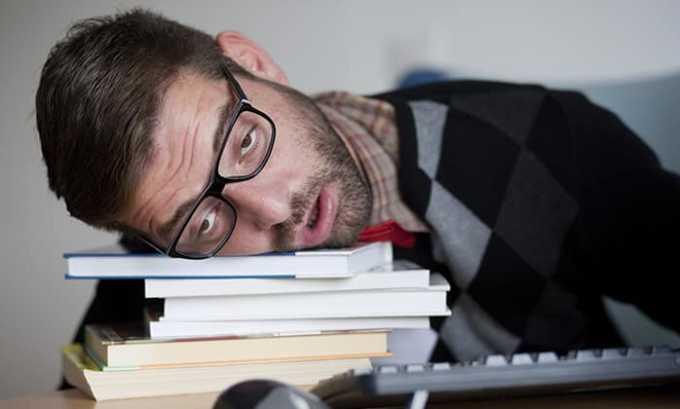 Побочные действия от приема препарата Раптен могут проявляться в виде сонливости
