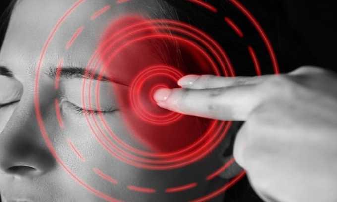 Препарат применяется при приступах мигрени