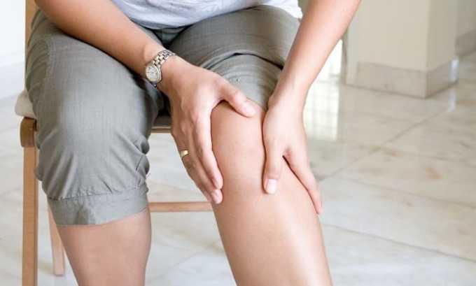Препарат используют от болей в мышечных тканях после растяжений
