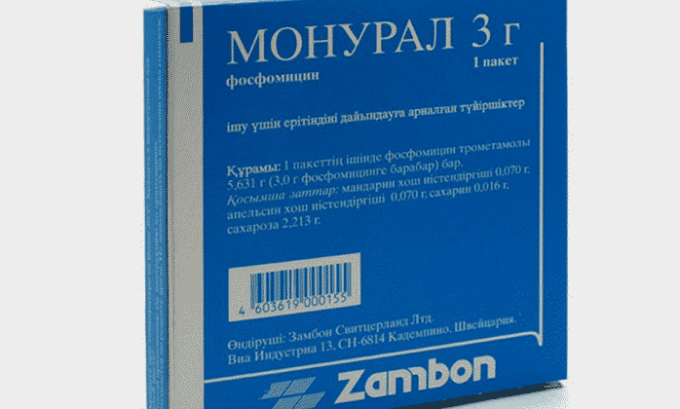 Если помощь врача при остром цистите недоступна, можно принять таблетку Монурала