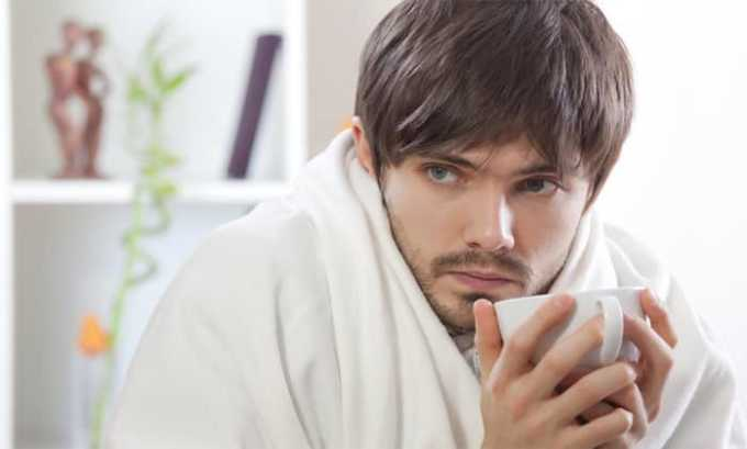 Лихорадка может появиться как побочный эффект от приёма препарата