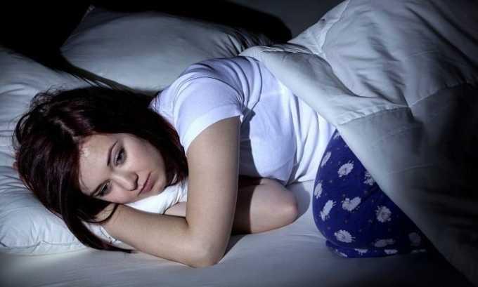 Возможны нежелательные реакции организма в виде нарушения сна