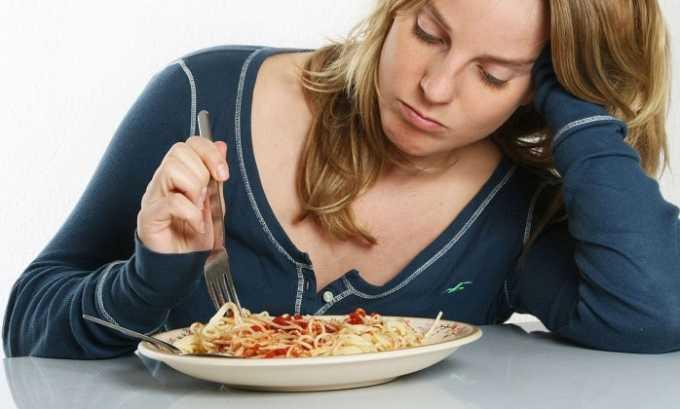 Побочным действием от препарата может быть потеря аппетита