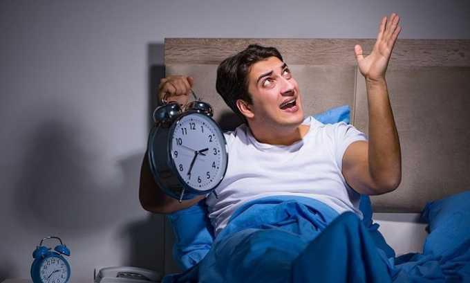 В некоторых случаях во время приема препарата возникают проблемы со сном