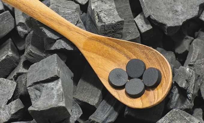 При употреблении с активированным углем снижается усвояемость активного вещества