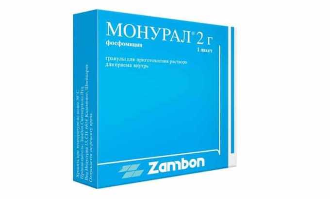 Препарат Монурал устраняет воспаление, борется с острым циститом