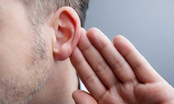 Препарат может привести к ухудшению слуха