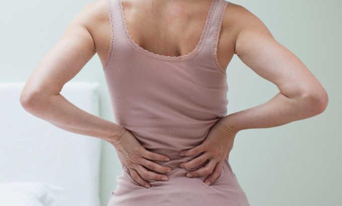 Препарат применяют при болях в пояснице