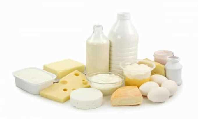 Вещество содержится в молоке, яйцах и сыре