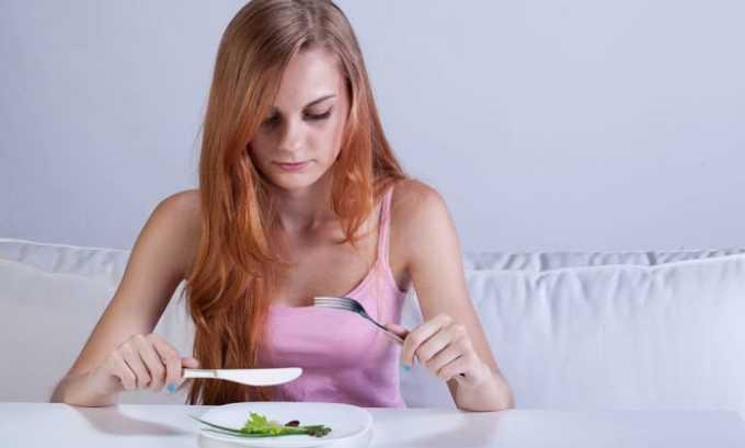 На фоне лечения Цефтриаксоном может возникать снижение аппетита