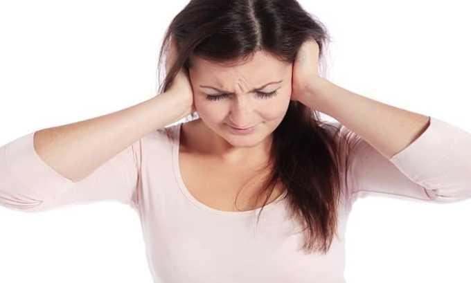 При приеме препарата может возникать побочная реакция в виде звона в ушах