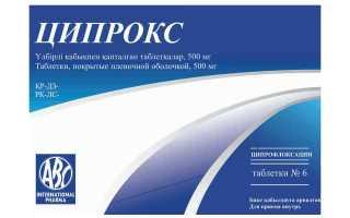 Как правильно использовать Ципрокс от инфекции мочевыводящих путей и почек?