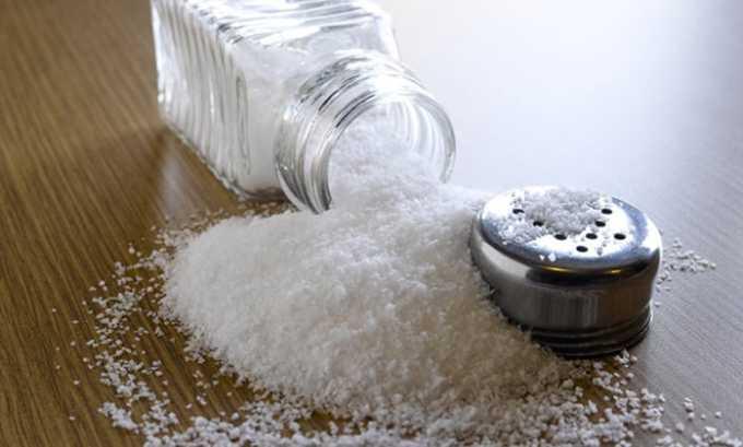 Количество потребляемой соли при цистите снижается до минимума