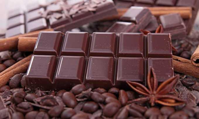Из диетического рациона при хроническом цистите рекомендуется исключить: шоколад