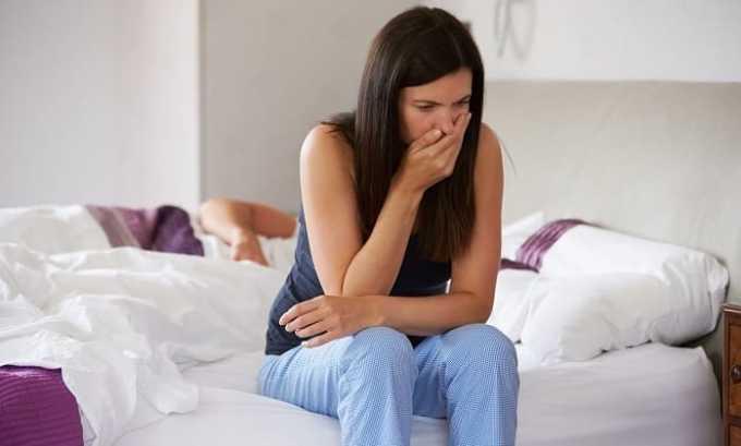 Во время приема средства могут возникнуть побочные явления в виде тошноты