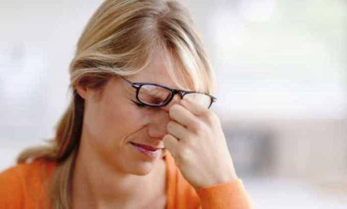 Проблемы со зрением - один из возможных побочных эффектов после приема препарата