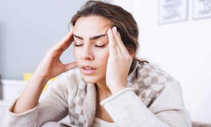 При использовании препарата возможно появление побочного эффекта в виде головной боли