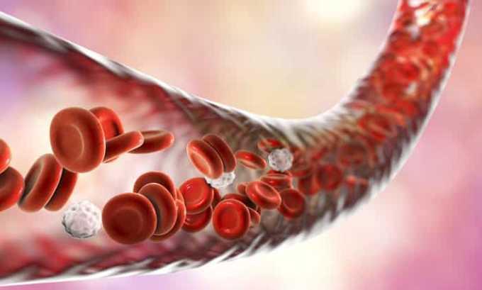 При приеме препарата может возникнуть побочный эффект в виде изменения состава и структуры крови