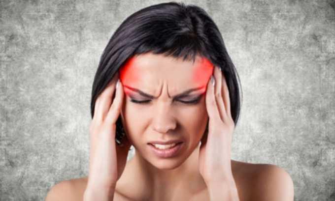 Препарат может вызвать побочное явление в виде мигрени