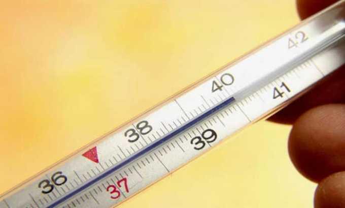 Побочное действие может вызвать повышение температуры тела