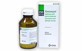 Действие препарата Хиконцил при инфекциях мочеполовой системы