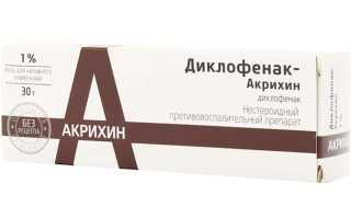 Препарат Диклофенак Акрихин: инструкция по применению