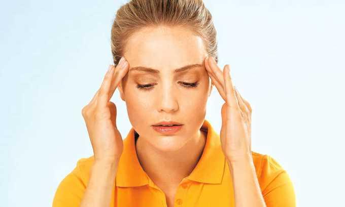 При использовании данного противомикробного средства может развиться боль в голове