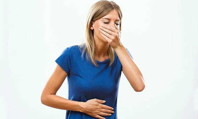 При использовании данного противомикробного средства может развиться тошнота