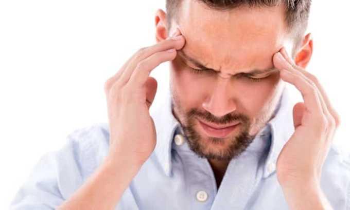 После введения раствора могут проявиться побочные эффекты в виде головокружения и болей в голове