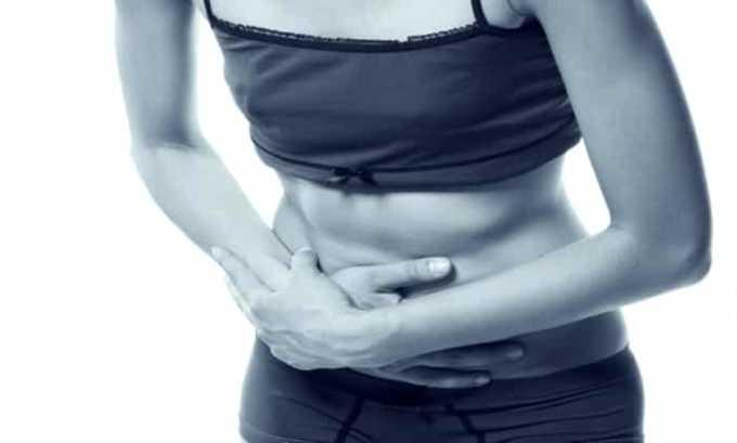 Есть риск возникновения побочного эффекта ввиде боли в животе