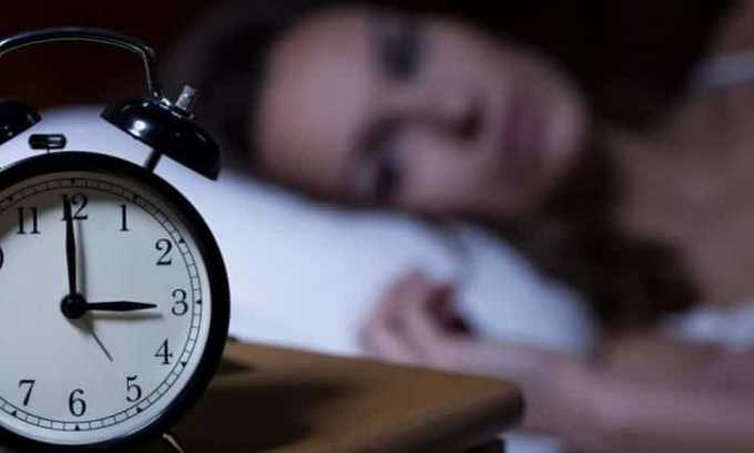 Нарушения сна являются противопоказанием к приему препарата