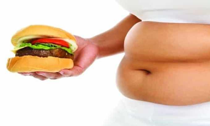 Препарат применяют при ожирении
