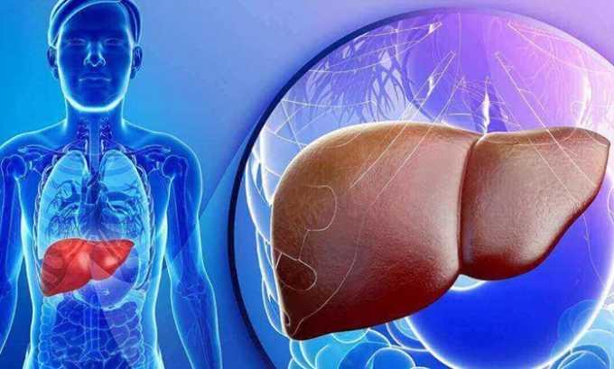 Нежелателен прием препарата Офлоксацин при хронических заболеваниях печени