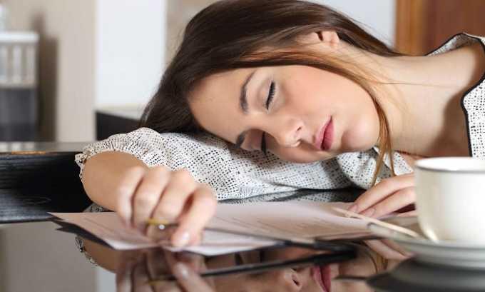 Сонливость - одно из побочных действий препарата