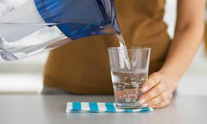 Для купирования симптомов передозировки нужно обеспечить больному обильное питье