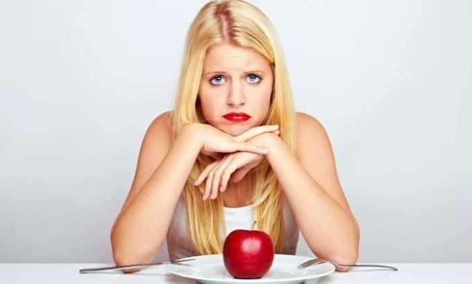 Снижение аппетита или полная его потеря случается вследствие приема Интерфераля