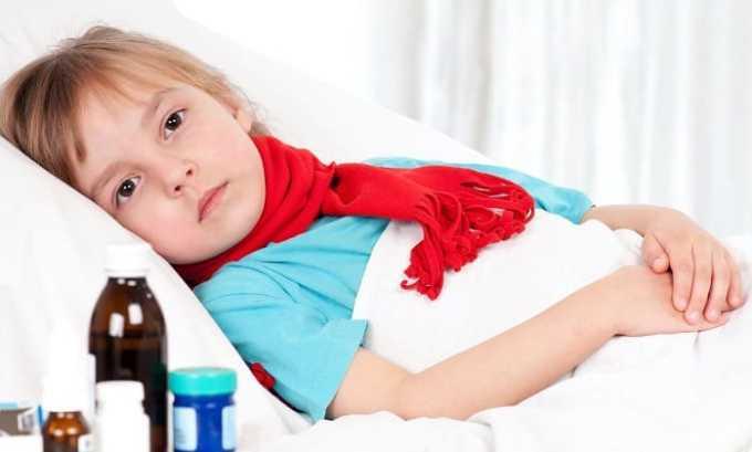 Препарат применяется при ОРВИ и гриппа у детей от 1 года жизни