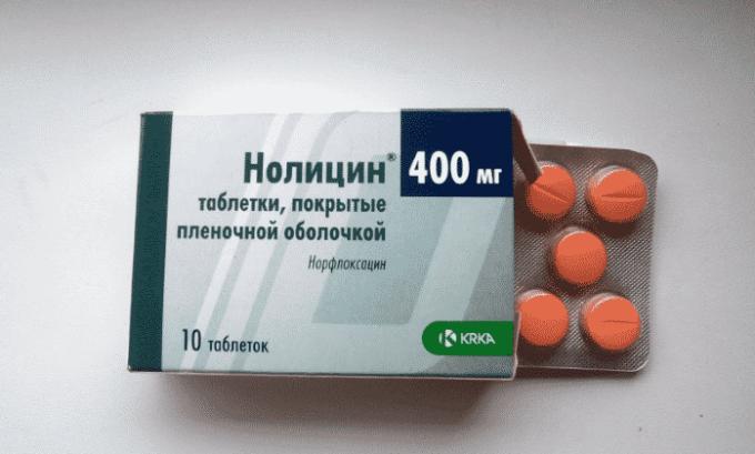 Нолицин - используется при заражении урогенитальной инфекцией