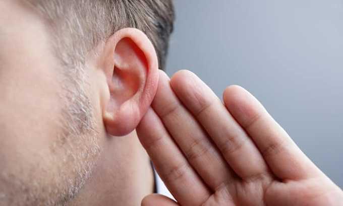 При приеме Аспирина с дозировкой 100 или 300 мг могут возникать побочные явления как снижение качества слуха