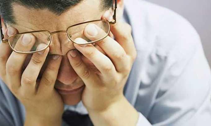 При приеме Хартила может возникнуть снижение остроты зрения