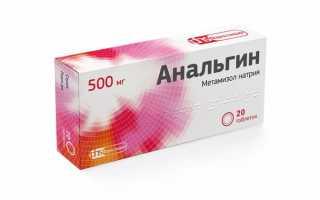Действие препарата Анальгин 500 при почечной колике