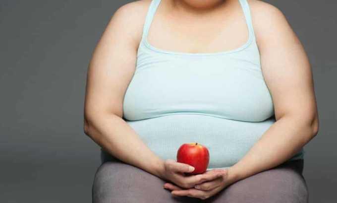 Препарат назначается при ожирении