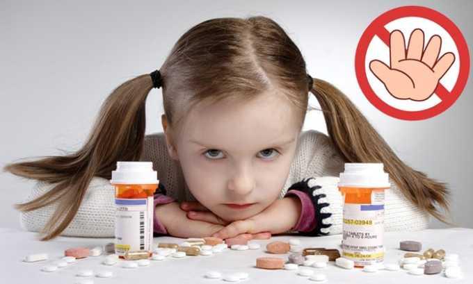 Препарат нежелательно применять при лечении пациентов младше 14 лет