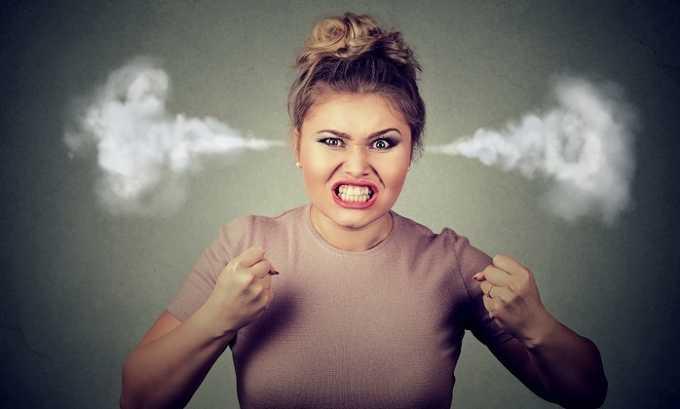 Побочным действием является сильная раздражительность
