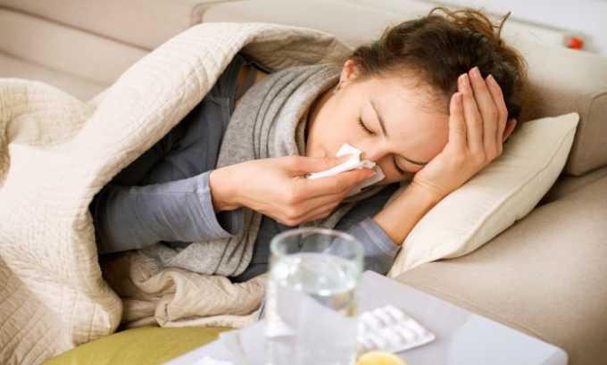 Препарат назначают для лечения гриппа