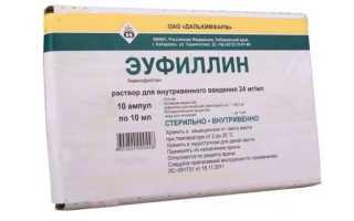 Результаты применения Эуфиллина 24 при нарушении почечного кровотока