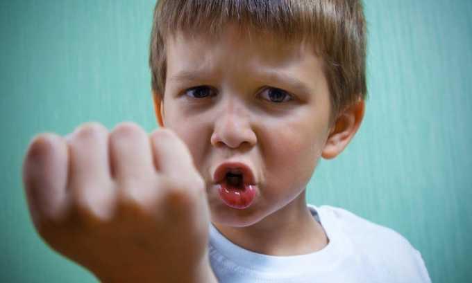 Средство будет назначено пациенту при наличии у него девиантных форм поведения (в особенности у детей и подростков)