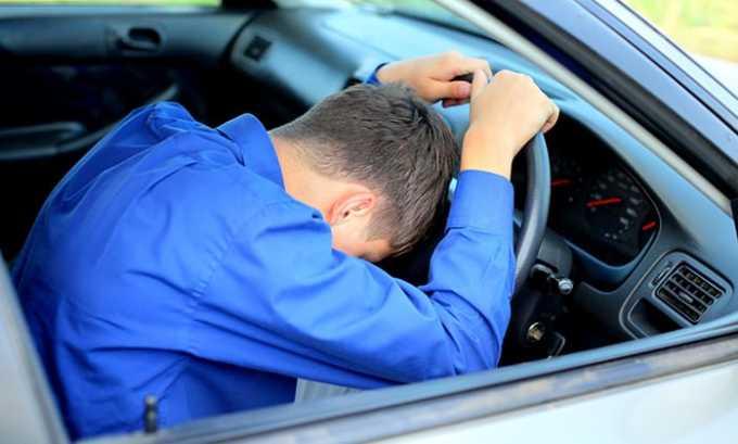 Верошпирон может вызвать сонливость и другие симптомы, во время его приема рекомендуется отказаться от управления автомобилем